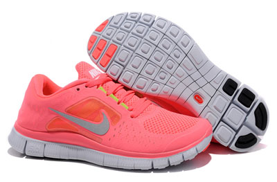 Acheter Nike Free Run 3 Femme Running Chaussures Coral argent