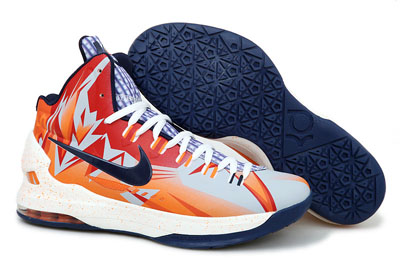 Acheter Nike KD 5 Orange Navy PE
