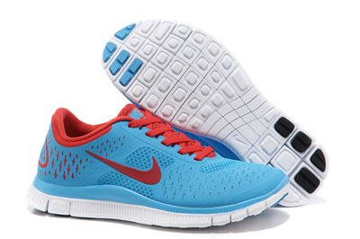 Shopping en ligne Nike Free 4.0 V2 University bleu Bright Crimson Pure Platinum
