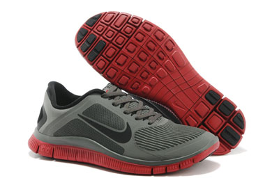Shopping en ligne Nike Free 4.0 V3 Homme Running Chaussures Mercury Gris Gym rouge