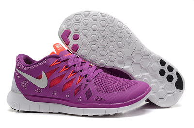 Shopping en ligne Nike Free 5.0 2014 Femme Running Chaussures pourpre rouge blanche