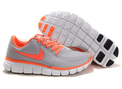 Shopping en ligne Nike Free 5.0 V4 Femme Running Chaussures Gris Orange