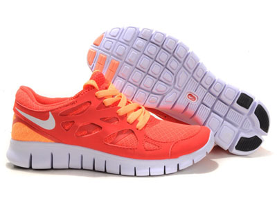Shopping en ligne Nike Free Run 2 Femme Running Chaussures Bright Mango Action rouge Sail