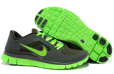 Shopping en ligne Nike Free Run 3 Homme Running Chaussures Sequoia Electric vert