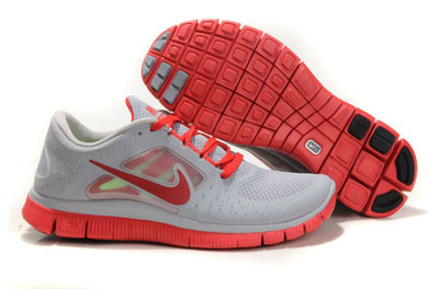 Shopping en ligne Nike Free Run 3 Homme Running Chaussures Wolf Gris Gym rouge