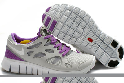 Shopping en ligne Nike Lady Free Run 2 Pure Platinum blanche Wolf Gris Bright Violet