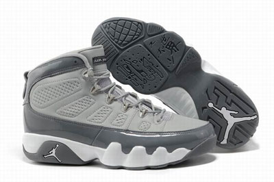 authentique Air Jordan 9 Cool Gris