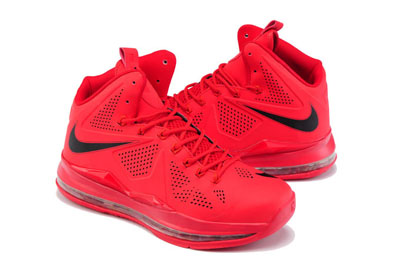 authentique LeBron James 10 couple Chaussures rouge
