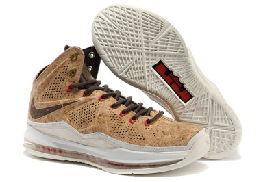 authentique Nike LeBron 10 EXT QS Cork brun 2013