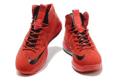 authentique Nike LeBron 10 EXT rouge Suede