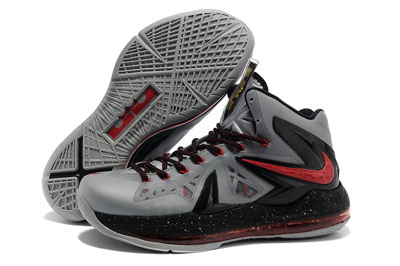 authentique Nike LeBron 10 Elite gris noir rouge