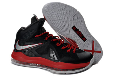 authentique Nike LeBron 10 Elite noir rouge blanche