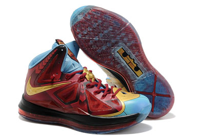 authentique Nike LeBron 10 Iron Homme Stark Custom