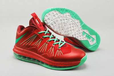 authentique Nike LeBron 10 Low Christmas