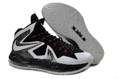 authentique Nike LeBron 10 PS Elite blanche noir Game 1 PE