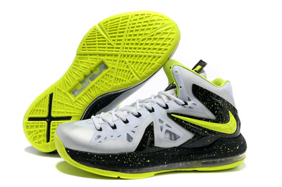 authentique Nike LeBron James X Elite gris jaune noir