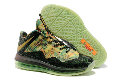 authentique Nike LeBron X Low 2 Time Champion