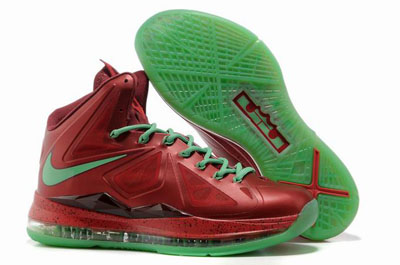 authentique Nike Lebron 10 Christmas