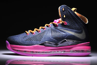 authentique Nike Lebron 10 EXT Denim