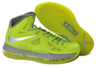 authentique Nike Lebron 10 Volt Dunkman