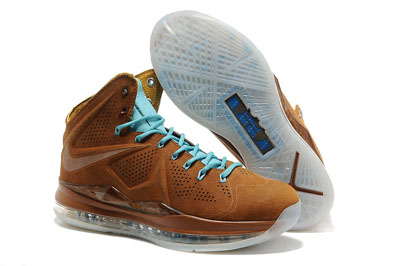 authentique Nike Lebron X (10) EXT Hazelnut brun Suede