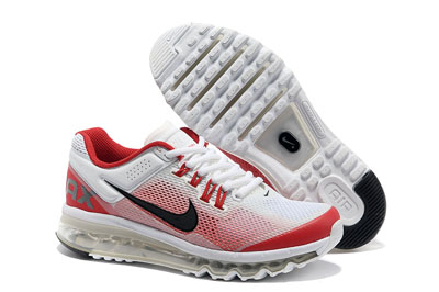 authentique Nike air max 2013 sale blanche rouge