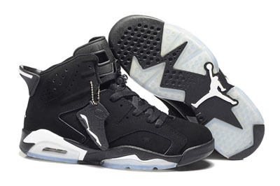 paris Air Jordan 6 Retro noir argent