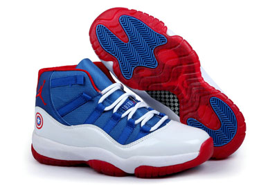 pas cher Air Jordan 11 Captain American Custom