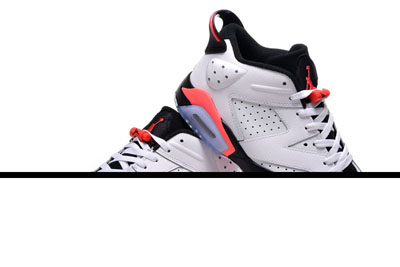 pas cher Air Jordan 6 Low blanche Infrared