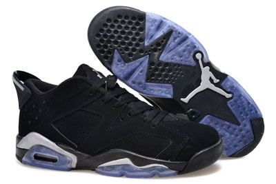 pas cher Air Jordan 6 Low noir Chrome