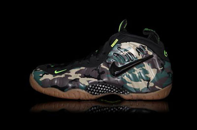 pas cher Nike Air Foamposite Chaussures Pro Army Camo
