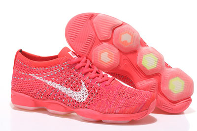 pas cher Nike Flyknit Zoom Agility Femme Setting Sun