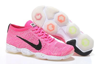 pas cher Nike Flyknit Zoom Agility Femme rose