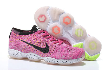 pas cher Nike Flyknit Zoom Agility Femme rouge blanche