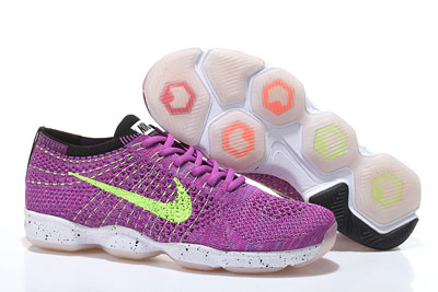 pas cher Nike Flyknit Zoom Agility Fluorescence Violet