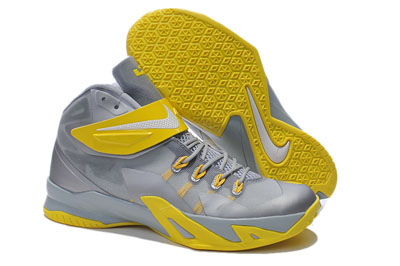 pas cher Nike LeBron Zoom Soldier 8 Pure Platinum Wolf Gris