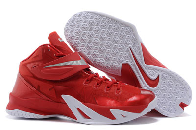pas cher Nike LeBron Zoom Soldier 8 University rouge
