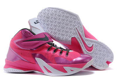 pas cher Nike Zoom LeBron Soldier 8 Metallic argent rose