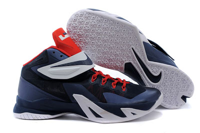 pas cher Nike Zoom Soldier 8 Midnight Navy bleu blanche