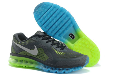 site officiel Nike Air Max 2014 Charcoal gris vert month