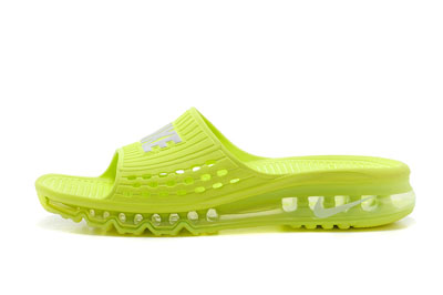 site officiel Nike Air Max 2014 Slide Air Cushion Fluorescent vert