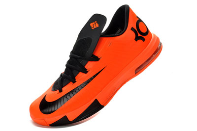 site officiel Nike KD VI Homme Basketball Chaussures Orange noir