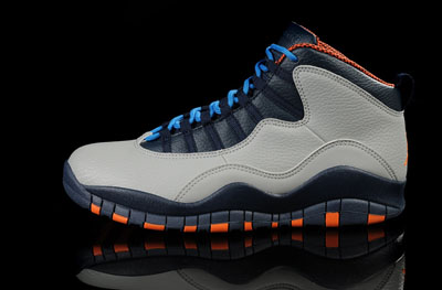 soldé Air Jordan 10 Retro Bobcats Wolf Gris Orange