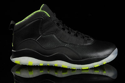 soldé Air Jordan 10 Venom vert Beauty Shots