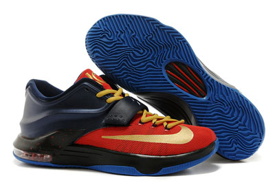 soldé Cheap Nike KD 7 Ink bleu noir rouge or