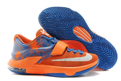 soldé Nike KD 7 Custom Orange Jade blanche