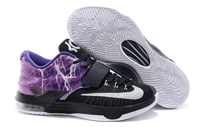 soldé Nike KD 7 Struck By Lightning pourpre Custom Chaussures