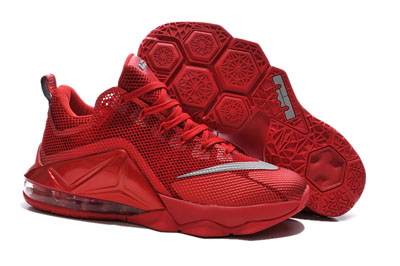 soldé Nike LeBron 12 Low tous Over rouge